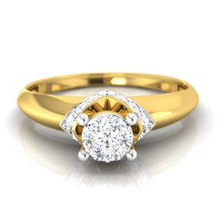 diamond studded gold jewellery - Dezirae Engagement Ring - Pristine Fire - 2