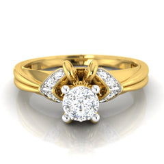 diamond studded gold jewellery - Donvina Engagement Ring - Pristine Fire - 2