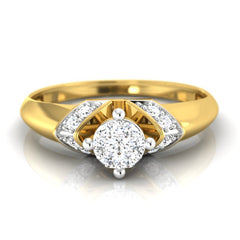 diamond studded gold jewellery - Dynasty Engagement Ring - Pristine Fire - 2