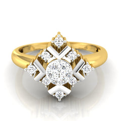 diamond studded gold jewellery - Jacinta Engagement Ring - Pristine Fire - 2