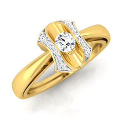 diamond studded gold jewellery - Jenilee Engagement Ring - Pristine Fire - 1