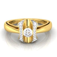 diamond studded gold jewellery - Jenilee Engagement Ring - Pristine Fire - 2