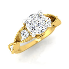 diamond studded gold jewellery - Jordane Engagement Ring - Pristine Fire - 1