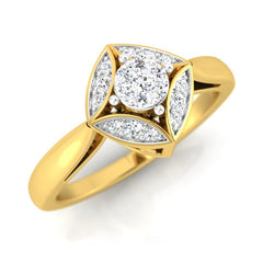 diamond studded gold jewellery - Kalissa Engagement Ring - Pristine Fire - 1
