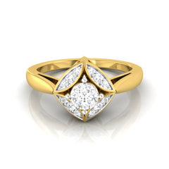 diamond studded gold jewellery - Kalissa Engagement Ring - Pristine Fire - 2