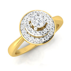 diamond studded gold jewellery - Lysanne Engagement Ring - Pristine Fire - 1