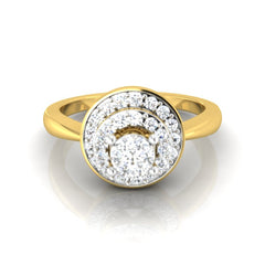 diamond studded gold jewellery - Lysanne Engagement Ring - Pristine Fire - 2