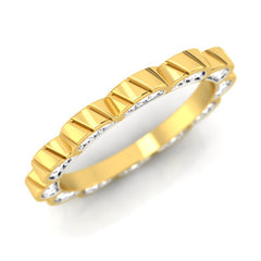 diamond studded gold jewellery - Calithea Band Ring - Pristine Fire - 1