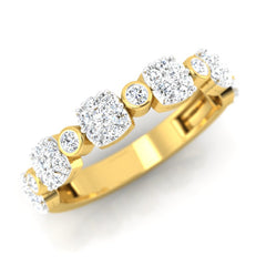 diamond studded gold jewellery - Serilda Band Ring - Pristine Fire - 1