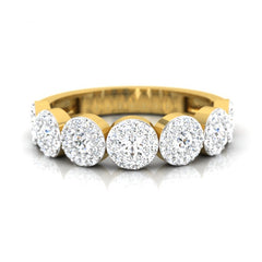 diamond studded gold jewellery - Shilin Band Ring - Pristine Fire - 2