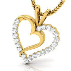 diamond studded gold jewellery - Lulia Casual Pendant - Pristine Fire - 1