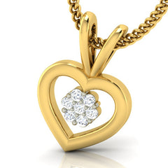 diamond studded gold jewellery - Sylvi Casual Pendant - Pristine Fire - 1