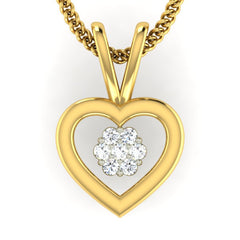 diamond studded gold jewellery - Sylvi Casual Pendant - Pristine Fire - 2