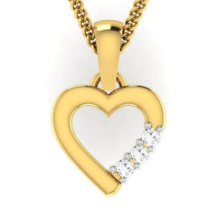 diamond studded gold jewellery - Malaika Casual Pendant - Pristine Fire - 2