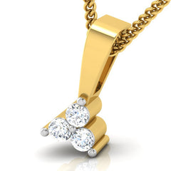diamond studded gold jewellery - Corinne Casual Pendant - Pristine Fire - 1