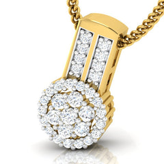 diamond studded gold jewellery - Takako Casual Pendant - Pristine Fire - 1