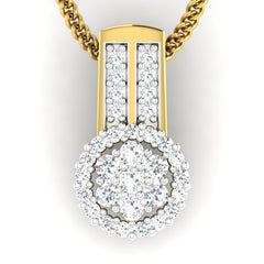 diamond studded gold jewellery - Takako Casual Pendant - Pristine Fire - 2