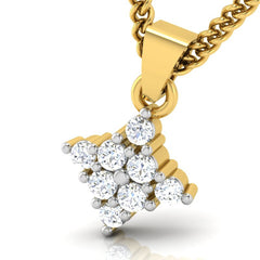 diamond studded gold jewellery - Ursula Casual Pendant - Pristine Fire - 1