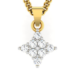 diamond studded gold jewellery - Ursula Casual Pendant - Pristine Fire - 2