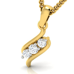 diamond studded gold jewellery - Lia Casual Pendant - Pristine Fire - 1