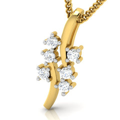 diamond studded gold jewellery - Ednah Casual Pendant - Pristine Fire - 1