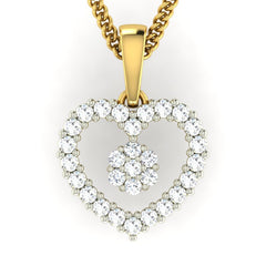 diamond studded gold jewellery - Sheila Casual Pendant - Pristine Fire - 2