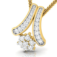 diamond studded gold jewellery - Wilburg Casual Pendant - Pristine Fire - 1