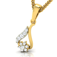 diamond studded gold jewellery - Inez Casual Pendant - Pristine Fire - 1