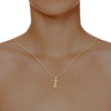 diamond studded gold jewellery - Isadora Alphabet Pendant - Pristine Fire - 4