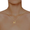 diamond studded gold jewellery - Madyson Alphabet Pendant - Pristine Fire - 4