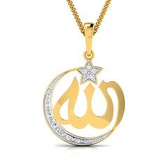 Star & Crescent Islamic Pendant