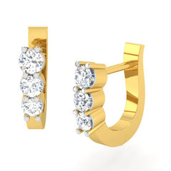 diamond studded gold jewellery - Seung Bali Earring - Pristine Fire - 1