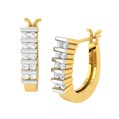 diamond studded gold jewellery - Brunhilde Bali Earring - Pristine Fire - 1
