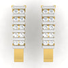 diamond studded gold jewellery - Brunhilde Bali Earring - Pristine Fire - 2