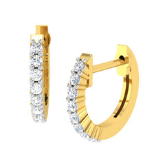 diamond studded gold jewellery - Kaveri Bali Earring - Pristine Fire - 1