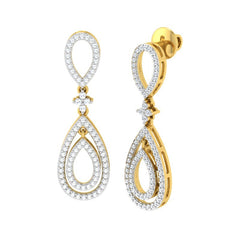 diamond studded gold jewellery - Tamara Dangler Earring - Pristine Fire - 1