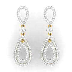 diamond studded gold jewellery - Tamara Dangler Earring - Pristine Fire - 2
