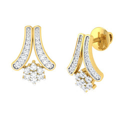 diamond studded gold jewellery - Helene Earring Tops - Pristine Fire - 1