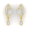 diamond studded gold jewellery - Anita Dangler Earring - Pristine Fire - 2