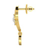 diamond studded gold jewellery - Anita Dangler Earring - Pristine Fire - 3