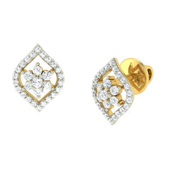 diamond studded gold jewellery - Merit Earring Tops - Pristine Fire - 1