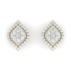 diamond studded gold jewellery - Merit Earring Tops - Pristine Fire - 2