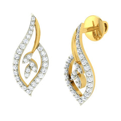 diamond studded gold jewellery - Nora Earring Tops - Pristine Fire - 1