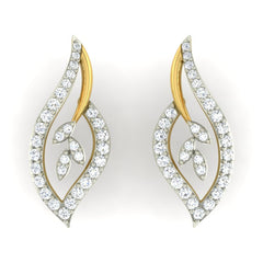 diamond studded gold jewellery - Nora Earring Tops - Pristine Fire - 2