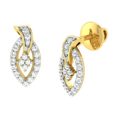 diamond studded gold jewellery - Danita Earring Tops - Pristine Fire - 1