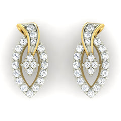 diamond studded gold jewellery - Danita Earring Tops - Pristine Fire - 2