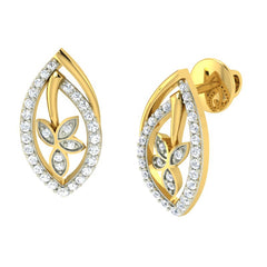 diamond studded gold jewellery - Yoana Earring Tops - Pristine Fire - 1