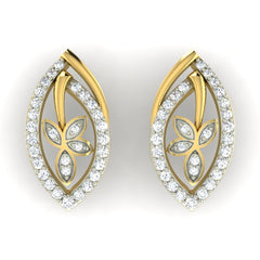 diamond studded gold jewellery - Yoana Earring Tops - Pristine Fire - 2