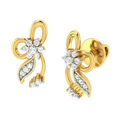 diamond studded gold jewellery - Adrianne Earring Tops - Pristine Fire - 1