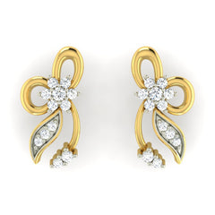 diamond studded gold jewellery - Adrianne Earring Tops - Pristine Fire - 2